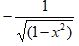 Cos Inverse Derivative