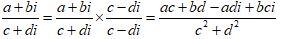 Dividing 2 Complex Number 2