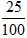 Percents to Fractions 2