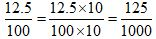 Percents to Fractions 4