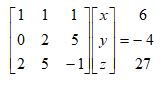 Solving Systems of Linear Equations Using Matrices