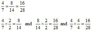 Equivalent Fractions Multiply