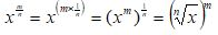 Fractional Exponents m n