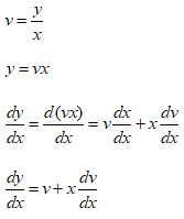 Homogeneous Differential Equations Formula 3