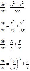 Homogeneous Differential Equations Formula 7