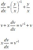 Homogeneous Differential Equations Formula 8