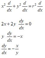 Implicit Differentiation Example