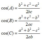Solving SSS Triangle Cosinus Rule
