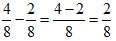 Subtract Fraction Example 1 Step 2