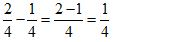 Subtract Fraction Example 2 Step 2