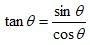 Trigonometric Identities Tan Sin Cos