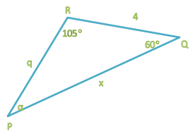 Law of cosinus example